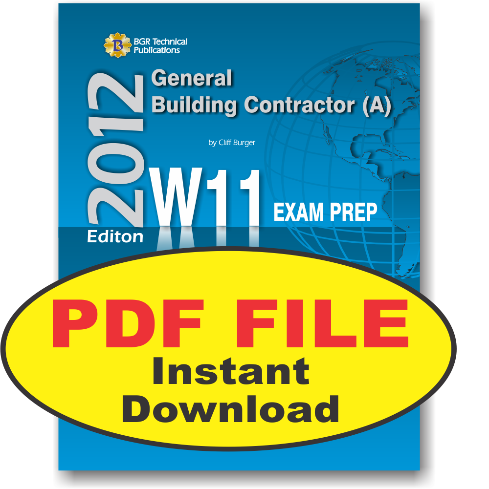 W11 National Standard General Contractor A Pdf Icc Workbooks
