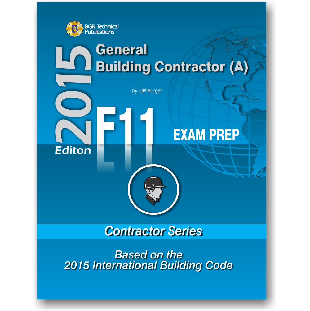 F11 National Standard General Contractor A 2015 Icc Workbooks